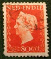 80 Ct Koningin Wilhelmina NVPH 343 1948 Gestempeld / Used NEDERLAND INDIE / DUTCH INDIES - Niederländisch-Indien