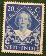 Inhuldigingszegels Koningin Juliana NVPH 350 1948 Gestempeld / Used NEDERLAND INDIE / DUTCH INDIES - Netherlands Indies