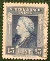Koningin Wilhelmina 15 Ct NVPH 310 1945-1946 Gestempeld / Used NEDERLAND INDIE / DUTCH INDIES - Niederländisch-Indien