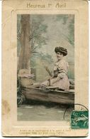CPA - Carte Postale - Fantaisie - Heureux 1er Avril - 1913 (F107) - April Fool's Day