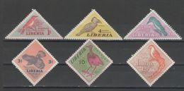 Liberia - BIRDS 1953 MH - Liberia
