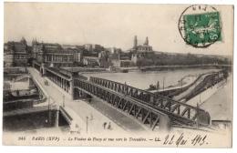CPA 75 - PARIS - 944. Le Viaduc De Passy Et Vue Vers Le Trocadéro - LL - Metro, Stations