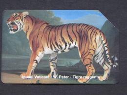 SCV 33 - 6033 C&C - PETER TIGRE RUGGENTE - USATA MAGNETIZZATA ORIGINALE - Vatican
