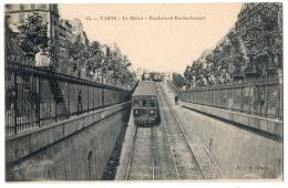 CPA 75 - PARIS - 63. Le Métro - Boulevard Rochechouart - B F - Stations, Underground