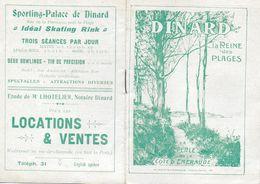 HORAIRES DINARD REINE DES PLAGES VEDETTES TRAMWAY DINARD SAINT BRIAC PLAN PUBLICITE  LIVRET - Europe