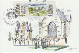 Carte-Maximum FRANCE N°LISA 1027 / Angers, Château D'Angers, La Chapelle - Cartoline Maximum