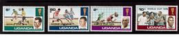 Uganda-1978,(Mi.183-186) , Football, Soccer, Fussball,calcio,MNH - World Cup