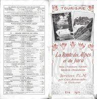 HORAIRE TOURISME LA ROUTE DES ALPES ET DU JURA  SERVICE PLM  ETE 1914 NICE GENEVE BESANCON - Europe