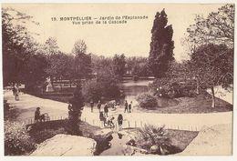 Jardin De L'Esplanade Vue Prise De La Cascade - Montpellier