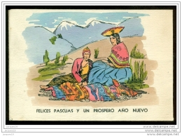 Peru Postcard Merry Christmas And Happy New Year Not Used - Perù