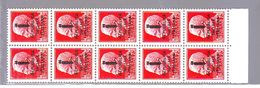 RSI 1944  ITALY  ITALIEN  REPUBBLICA SOCIALE  75 Cent.  IMPERIALE SOPRAST. BLOCCO DI DIECI MNH** - 4. 1944-45 Repubblica Sociale