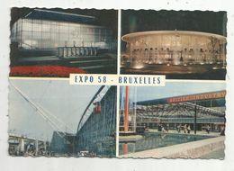 Cp , Belgique , Multi Vues , Exposition Universelle 1958 , Pavillons De L'U.R.S.S. , U.S.A. ,France , Grande Bretagne - Universal Exhibitions
