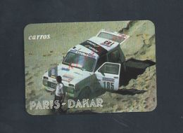 ANCIEN PETIT CALENDRIER 1989 LISBOA PORTUGAL AUTOMOBILE DE COURSE  PARIS DAKAR CARROS : - Calendriers
