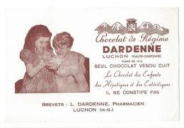 B33- Buvard Chocolat De Régime DARDENNE Luchon  Enfants - Chocolat