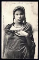 CPA ANCIENNE AFRIQUE OCCIDENTALE- MAURITANIE- JEUNE FEMME MAURE EN TRES GROS PLAN DE FACE- - Mauritania