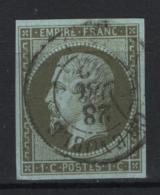 Francia 1853 1c. Unif. 11 Usato/Used VF Signed Sorani - 1853-1860 Napoleone III