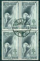 LUXEMBOURG N° 333  Bloc De 4 Oblitéré Du 22.3.1940 TB Thème Femme Et Croix De Lorraine .cote:40 €. - Neufs