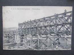 AK KORNEUBURG Brückenbau 1915 ///  D*30503 - Korneuburg