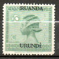 RUANDA-URUNDI  10c Vert 1924-27 N°51 - Ruanda-Urundi