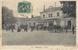 70- VIERZON - La Gare -ed. B.F. - Vierzon