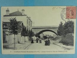 Conflans-Sainte-Honorine Avenue Carnot Et Pont Du Chemin De Fer - Conflans Saint Honorine