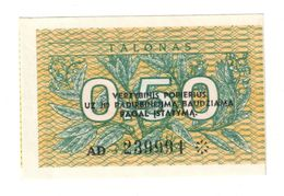 Lithuania 0,50 Talonas 1991 Cut Error UNC .C. - Lituania