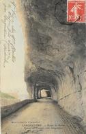 Largentière (Ardèche) - Route De Ruoms, Entrée Du Tunnel - Edition Mazel Et Plancher, Carte Colorisée - Largentiere