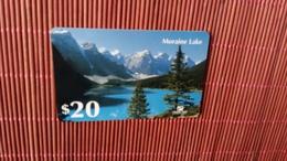 Prepaidcard Moraine Lake  20 $ Used 2 Scans Rare - United States