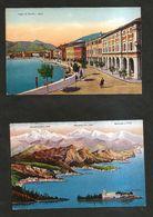 SALO' ( BS ) - Salò / Lago Di Garda / Isola Del Garda ( Spedite 1931 ) Lotto Di 2 Cartoline Illustrate - Brescia