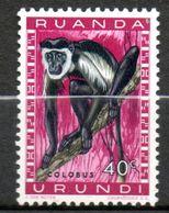 RUANDA-URUNDI  Colobe 1959-61 N° 207 - Ruanda-Urundi