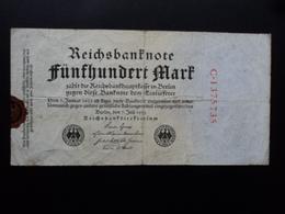 ALLEMAGNE : 500 MARK  7.7.1922  P 74a *  TTB - [ 3] 1918-1933 : Repubblica  Di Weimar