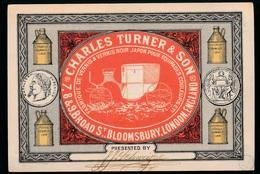 RECLAME -  CHARLES TURNER & SON - FABRIQUE DE VERNIS & VERNIS NOIR JAPON - Publicité
