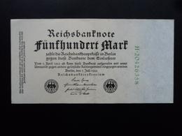 ALLEMAGNE : 500 MARK  7.7.1922  P 74c   TTB - [ 3] 1918-1933 : Repubblica  Di Weimar