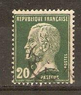 France - 1923/6 - Pasteur - YT172 Avec Oblitération Jour De L'an Ou Cachet Du Facteur - 1922-26 Pasteur