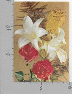 CARTOLINA VG ITALIA - BUON ONOMASTICO - Rose Garofani E Iris - ALBACOLOR - 10 X 15 - ANN. 1967 - Fleurs