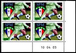 ST-PIERRE ET MIQUELON 2003 - Yv. 798 ** Bloc De 4 Coin Daté  Cote= 10,00 EUR - Footballeur ASSP  ..Réf.SPM11313 - Neufs