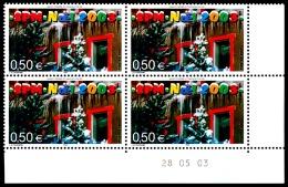 ST-PIERRE ET MIQUELON 2003 - Yv. 809 ** Bloc De 4 Coin Daté  Cote= 10,00 EUR - Noël. Sapins Enneigés  ..Réf.SPM11319 - Neufs