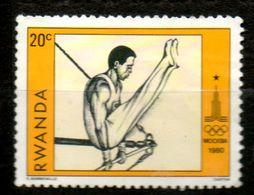 RWANDA   J O Moscou 1980 N° 933 - Rwanda