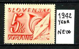 SLOVACCHIA - SLOVENSKO - Year 1942 - Nuovo - New - Fraiche - Frisch - MLH * - Slovacchia