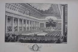 GRAVURE 625 / OUVERTURE DES ETATS GENERAUX DE 1789 D'après  MONNET Par ISIDORE STANISLAS  HELMAN Né à LILLE - Prints & Engravings