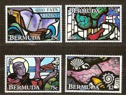 Bermuda 1992 Yvertn° 621-624 ***  MNH Cote 23 Euro Vitraux Faune - Bermudes