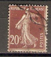 France - Marcophilie - Semeuse Avec Oblitération à Roulette BELGE - YT 139 - Marcophilie (Timbres Détachés)