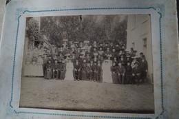 Belle Grande Photo Ancienne Sur Carton,groupe,Arlon,photo Th.Huhn - Th. Degive Arlon,32 Cm/25 Cm. - Photos