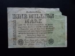 ALLEMAGNE : 1 MILLION MARK  9.8.1923  P 102b   AB / POOR - [ 3] 1918-1933 : Weimar Republic