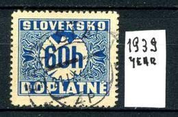 SLOVACCHIA - SLOVENSKO - Year 1939 - Usato - Used - Utilisè -gebraucht. - Usati