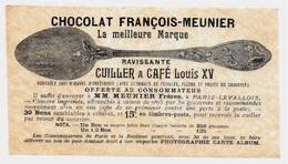 """Image Publicitaire Du CHOCOLAT FRANCOIS-MEUNIER 92 """"PARIS-LEVALLOIS"""" (Cuiller Et Photographie à Gagner) Publicité - Publicités"""