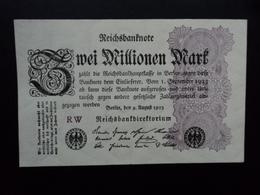 ALLEMAGNE : 2 MILLIONEN MARK  9.8.1923  P 104a    SPL+ / A.U.+ - [ 3] 1918-1933 : Weimar Republic