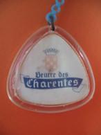 Porte-clefs - 392 Beurre Des Charentes - Zamelli Et Cie - Lyon - Porte-clefs