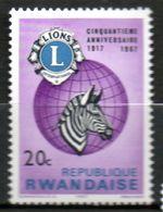 RWANDA   Lions International 1967 N° 227 - Rwanda