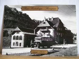Bolzano - Hotel Passo Costalunga  Karerpass - Anno 1930 -  Pompa Benzina Autobus  Pullman Bus - Bolzano